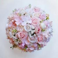 Rózsaszín púder menyasszonyi örökcsokor
