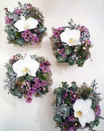 Nőnap virág csokor, nőnapi virágdoboz, nőnapra, fehér orchidea