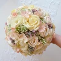 Pasztell menyasszonyi örökcsokor