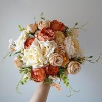 Lazított őszies menyasszonyi csokor